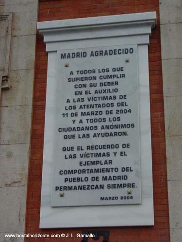 Inscripcion victimas 11 m puerta del sol madrid spain hostal madrid hostel pension madrid - Hostales en madrid puerta del sol ...
