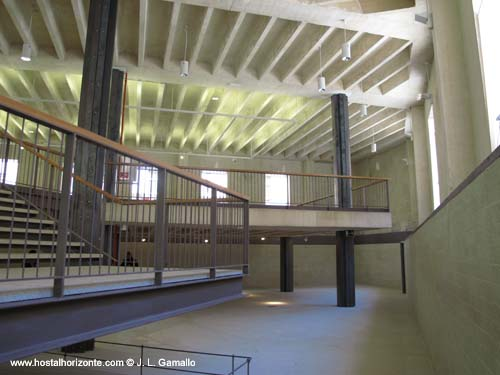 La sede del colegio de arquitectos de madrid en las for Restaurante escuela de arquitectos madrid