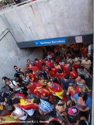 Huyndai Fan park Santiago Bernabeu Final Eurocopa 2012 Madrid Spain